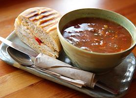 Soup & Sandwich at the Mocha Monkey